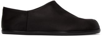 Maison Margiela Black Satin Tabi Babouche Loafers