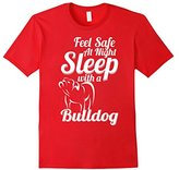 Bulldog Men's Feel safe at night Sleep with a Shirt XL