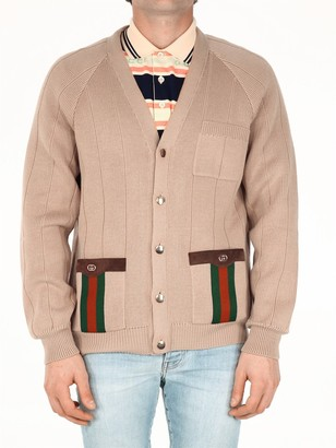 Gucci Web Detailed Knit Cardigan