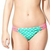 Xhilaration Junior's Hipster Swim Bottom -Polka Dot Print