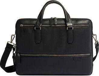 Tumi Harrison Harrow Double Zip Leather Brief Case