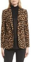 Frame Cheetah Classic Velvet Blazer