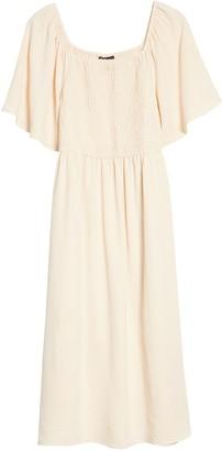 Bobeau Mathilde Smocked Midi Dress