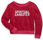 Spiritual Gangster Girls' Logo Jersey Sweatshirt - Sizes 2-8