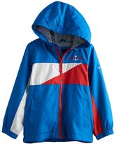 London Fog Boys 4-7 Colorblocked Jersey-Lined Hooded Jacket