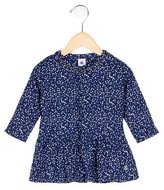 Petit Bateau Girls' Heart Print Flounce Dress