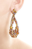 Kenneth Jay Lane Opalescent Drop Earrings with Crystal Embellishment