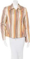 Akris Punto Long Sleeve Striped Jacket