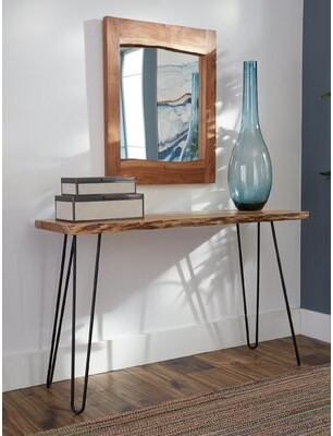 "Bexton 48"" Console Table and Mirror Set Foundry Select"