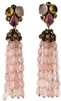 Iradj Moini Rose Quartz & Citrine Tassel Earrings