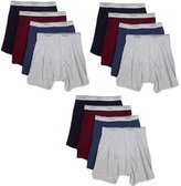 Fruit of the Loom Men's 12Pack Assorted Boxer Briefs 100% Cotton Underwear 2XL