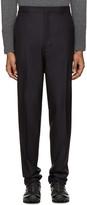Lanvin Navy Wool Trousers