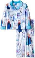 Disney Girls' Big Girls' Frozen Elsa and Anna 2-Piece Minky Pajama Coat Set