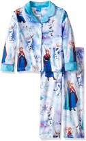 Disney Girls' Little Girls' Frozen Elsa and Anna 2-Piece Minky Pajama Coat Set