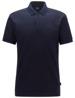 Slim-fit polo shirt with contrast shoulder panels