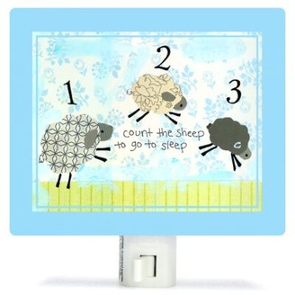 Oopsy Daisy Fine Art For Kids Counting Sheep Night Light Color: Blue