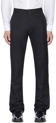 Daniel W. Fletcher Navy Split Hem Tailored Trousers