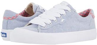 Keds Crew Kick 75 Chambray (Light Blue/Neon Pink) Women's Shoes