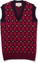 Gucci - Embroidered Alpaca and Wool-Blend Sweater Vest