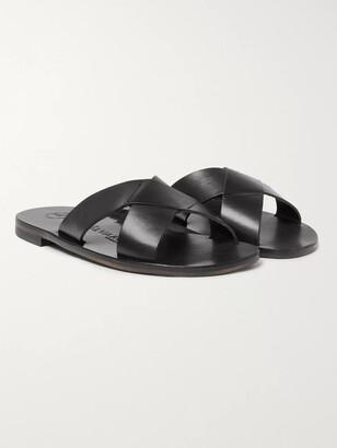 Álvaro González Antonio Leather Slides