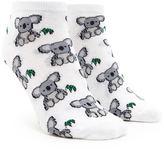 Forever 21 FOREVER 21+ Koala Print Ankle Socks