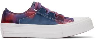 Needles Pink and Purple Tie-Dye Asymmetric Ghillie Sneakers