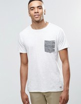Jack and Jones T-Shirt with Contrast Stripe Pocket