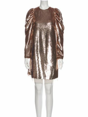 Ulla Johnson Crew Neck Mini Dress w/ Tags Metallic