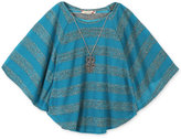 Speechless Stripe Circle Top, Big Girls (7-16)