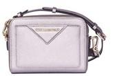 Karl Lagerfeld Women's Silver/pink Leather Shoulder Bag.