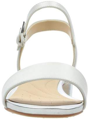 Clarks Orabella Iris Heeled Sandals - White