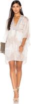 Halston V Neck Caftan Dress