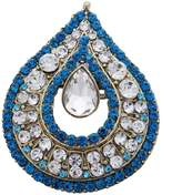 Banithani Goldtone Wedding CZ Jewelry Pin Brooch Traditonal Ethnic Unisex Accessory