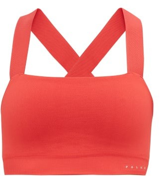 Falke Le Bandeau Low-impact Sports Bra - Womens - Dark Pink