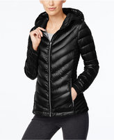 Calvin Klein Petite Packable Down Hooded Puffer Coat, Only at Macy's