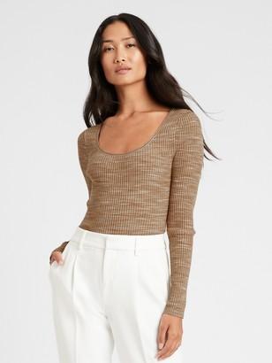 Banana Republic Space-Dye Scoop-Neck Sweater Top