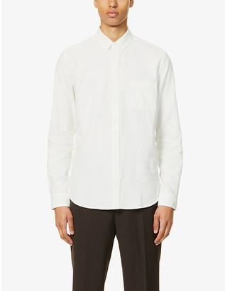 Samsoe & Samsoe Liam textured linen and cotton-blend shirt