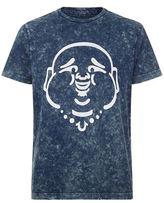 True Religion Acid Wash Buddha T-shirt
