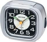 rhythm Alarm Clock Analogue Silver Grey 70847/19)