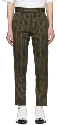 Haider Ackermann Green Skinny Classic Trousers