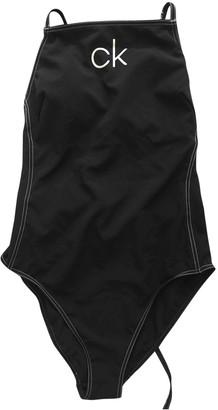 Calvin Klein Black Lycra Swimwear for Women