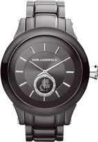 Karl Lagerfeld Kl1207 Chain Gunmetal Bracelet Watch
