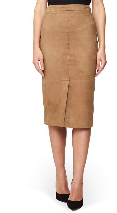 Reiss Ava Suede Skirt