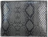Unico Corp. Men's Black Python-embossed Leather Bi-fold Wallet