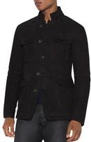John Varvatos Leather Field Jacket