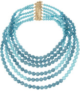 Amanda gold-dipped turquoise and angelite necklace