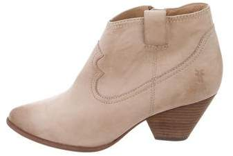Frye Suede Pointed-Toe Ankle Boots