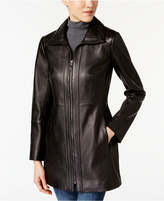 Anne Klein Petite Leather Coat
