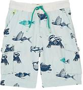 Scotch Shrunk AQUATIC-PRINT MICROFIBER SWIM TRUNKS
