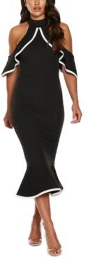 Quiz Cold-Shoulder Sheath Dress